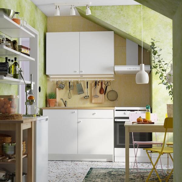 KNOXHULT Kitchen, white, 120x61x220 cm