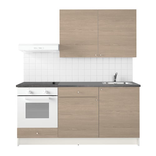 KNOXHULT Kitchen Wood effect grey 180 x 61 x 220 cm - IKEA