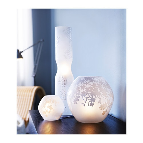 knubbig table lamp cherry blossoms frosted glass white 11 cm ikea. Black Bedroom Furniture Sets. Home Design Ideas