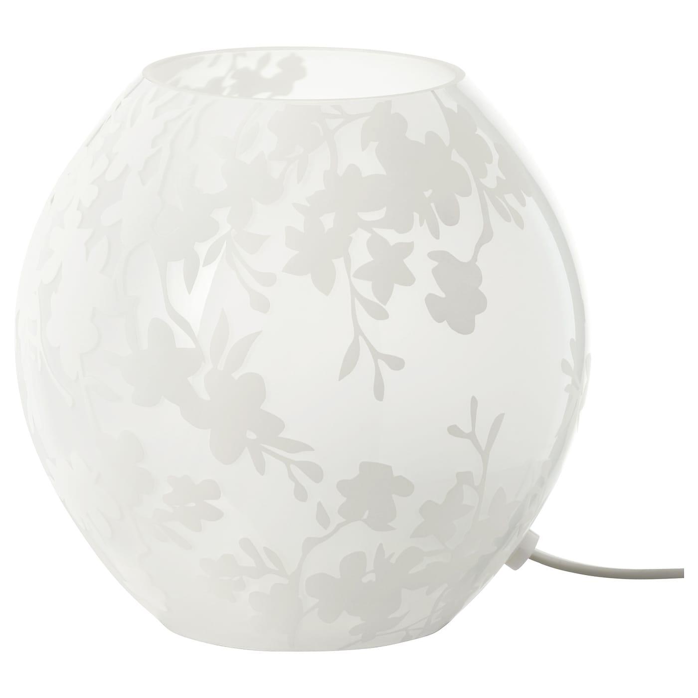 KNUBBIG Table lamp Cherry-blossoms white 18 cm - IKEA