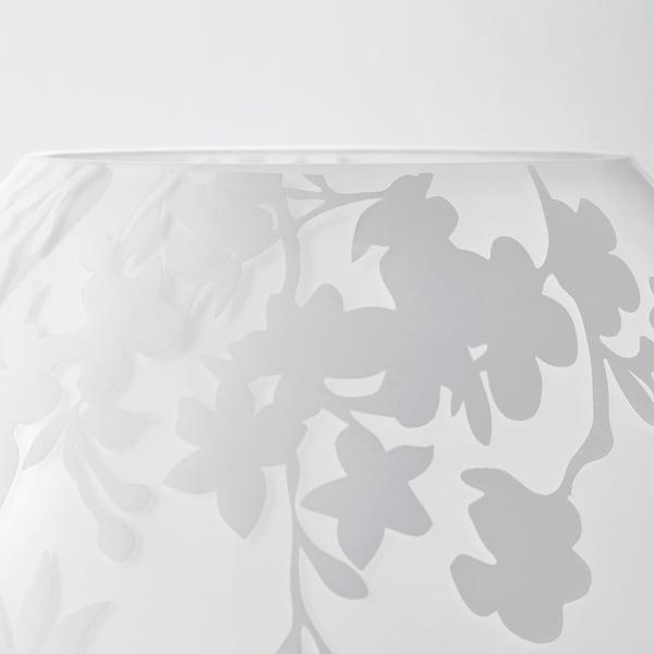 KNUBBIG Table lamp, cherry-blossoms white, 18 cm