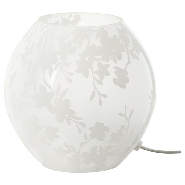 KNUBBIG cherry blossoms white, Table lamp, 18 cm IKEA