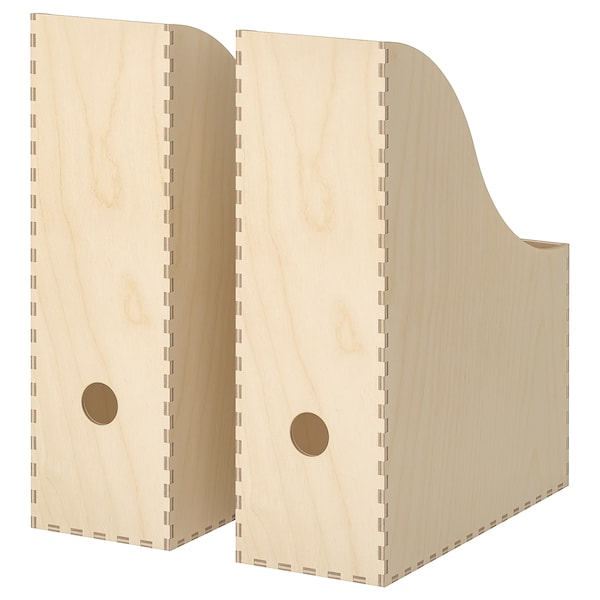 Knuff Plywood Magazine File Set Of 2