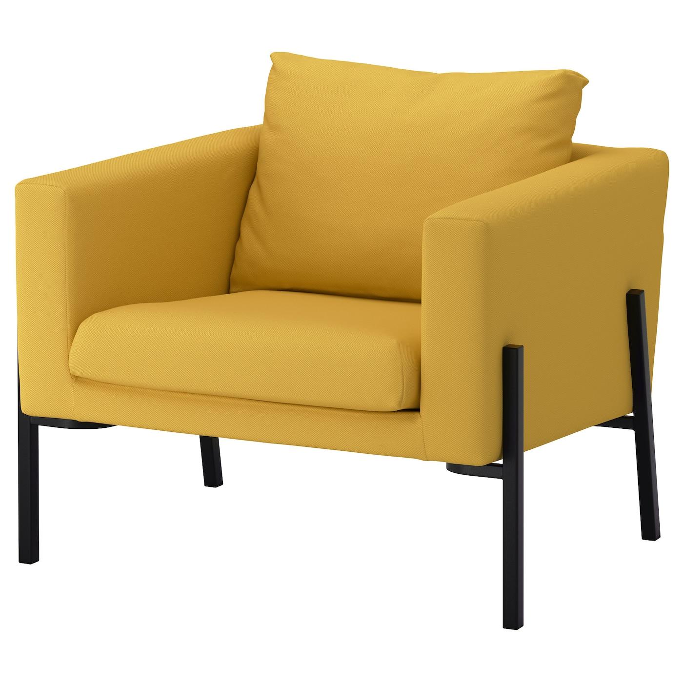 KOARP Armchair Gräsbo golden yellow black IKEA
