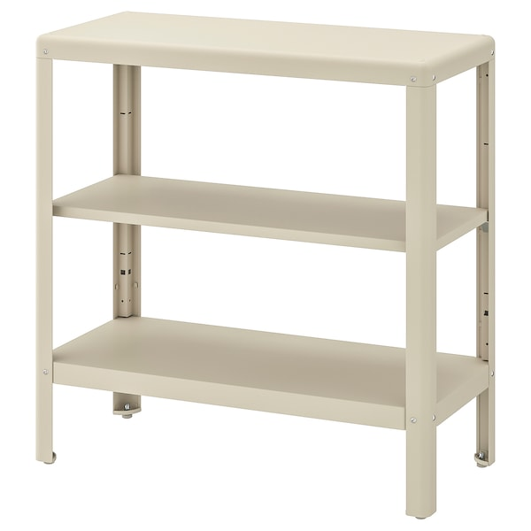 KOLBJÖRN Shelving unit in/outdoor, beige, 80x81 cm