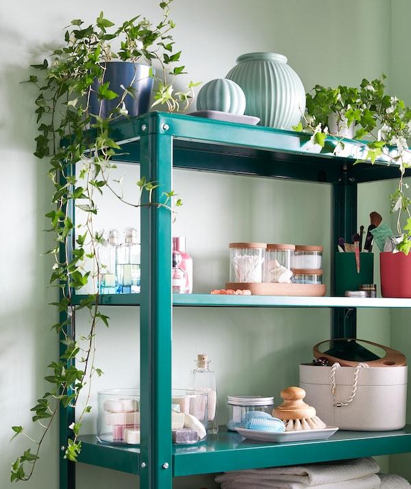 KOLBJÖRN shelving unit in/outdoor green 80 cm 35 cm 81 cm 25 kg