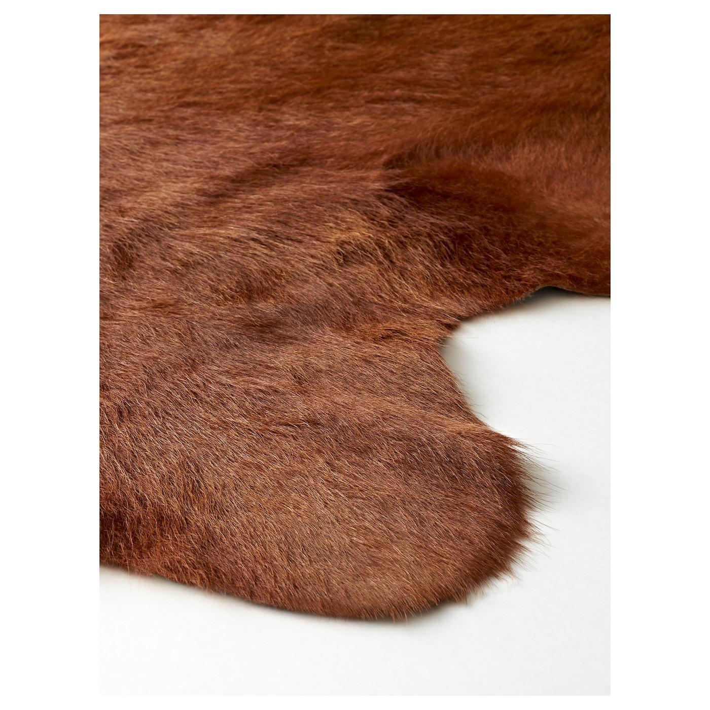 cowhide rugs seam detail