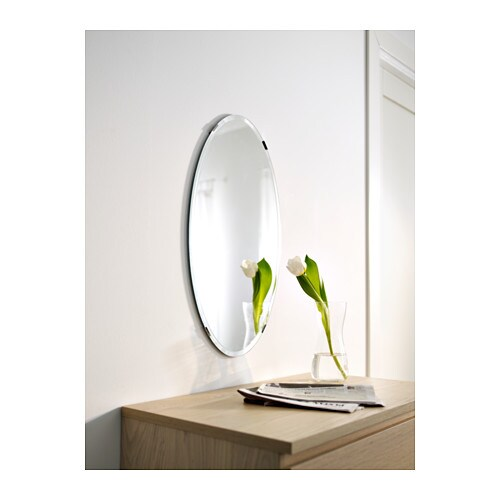 Kolja mirror round 55 cm ikea for Miroir ikea rond