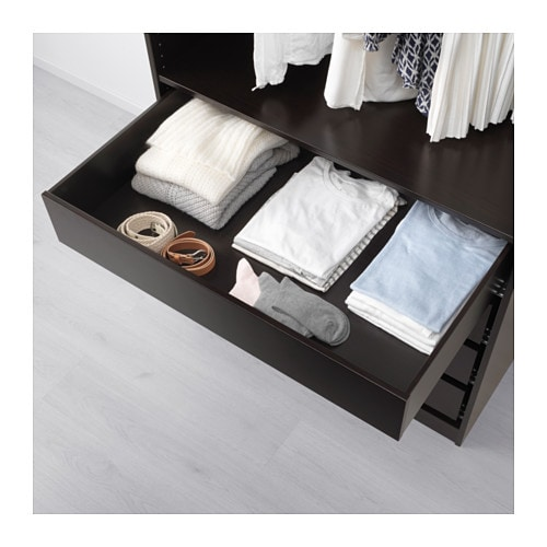 komplement drawer black brown 100x58 cm ikea. Black Bedroom Furniture Sets. Home Design Ideas