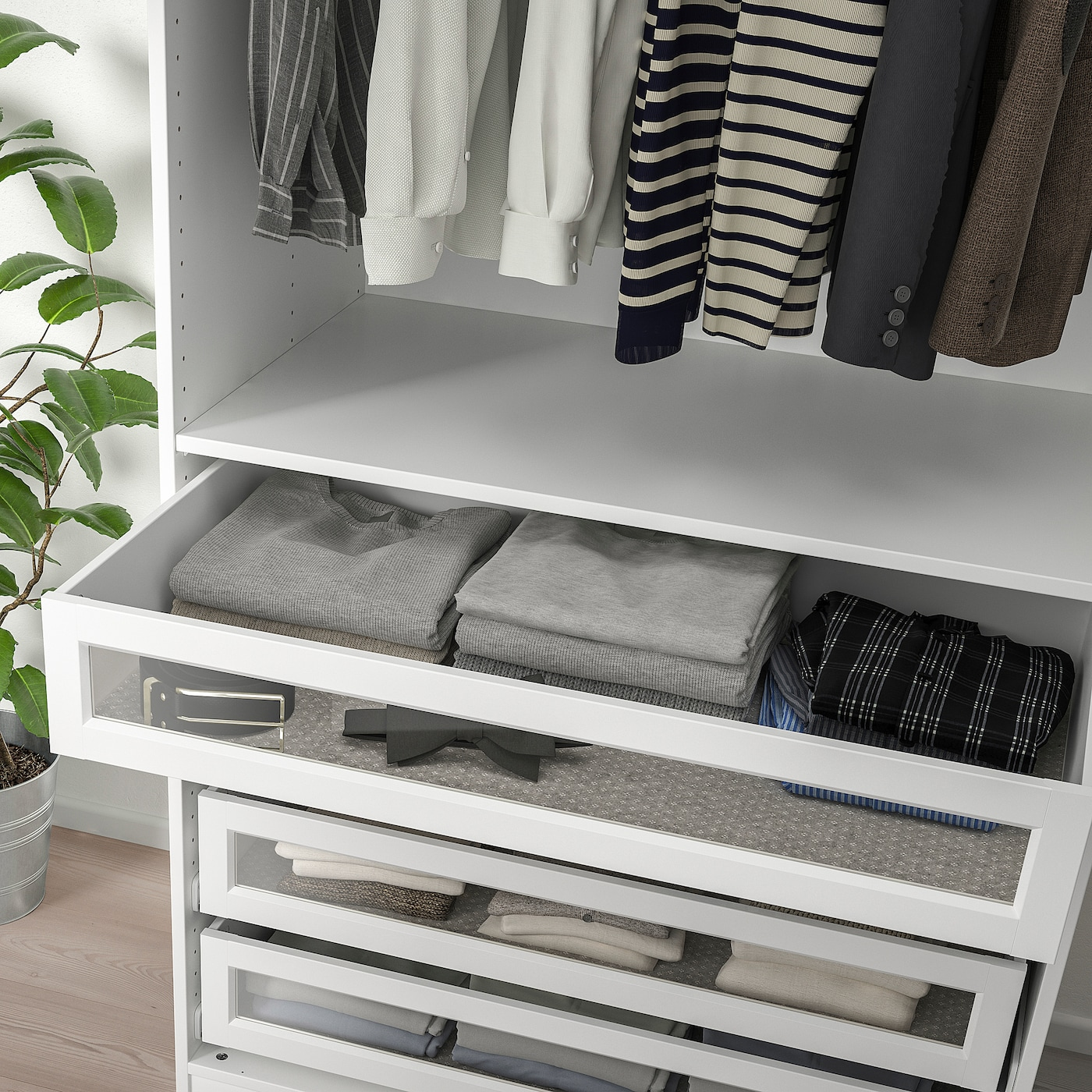 Ikea KOMPLEMENT Drawer with glass