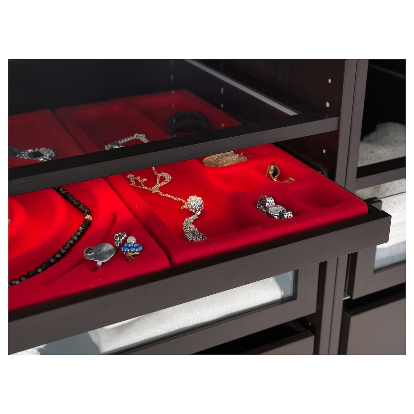 IKEA KOMPLEMENT jewellery insert for pull-out tray