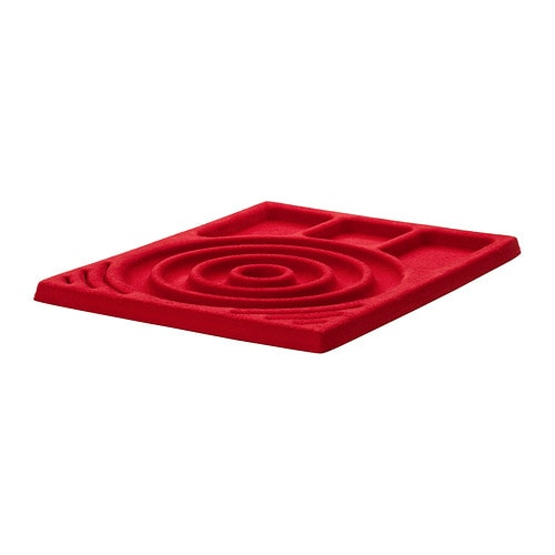 KOMPLEMENT Jewellery insert for pull-out tray , red Depth: 58 cm Width: 50 cm