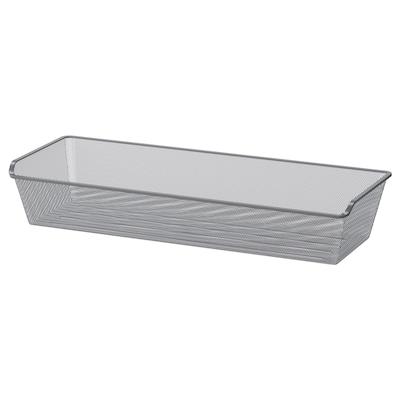 KOMPLEMENT Mesh basket, dark grey, 100x35 cm