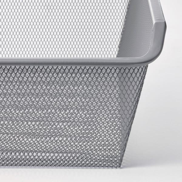 KOMPLEMENT Mesh basket, dark grey, 75x35 cm