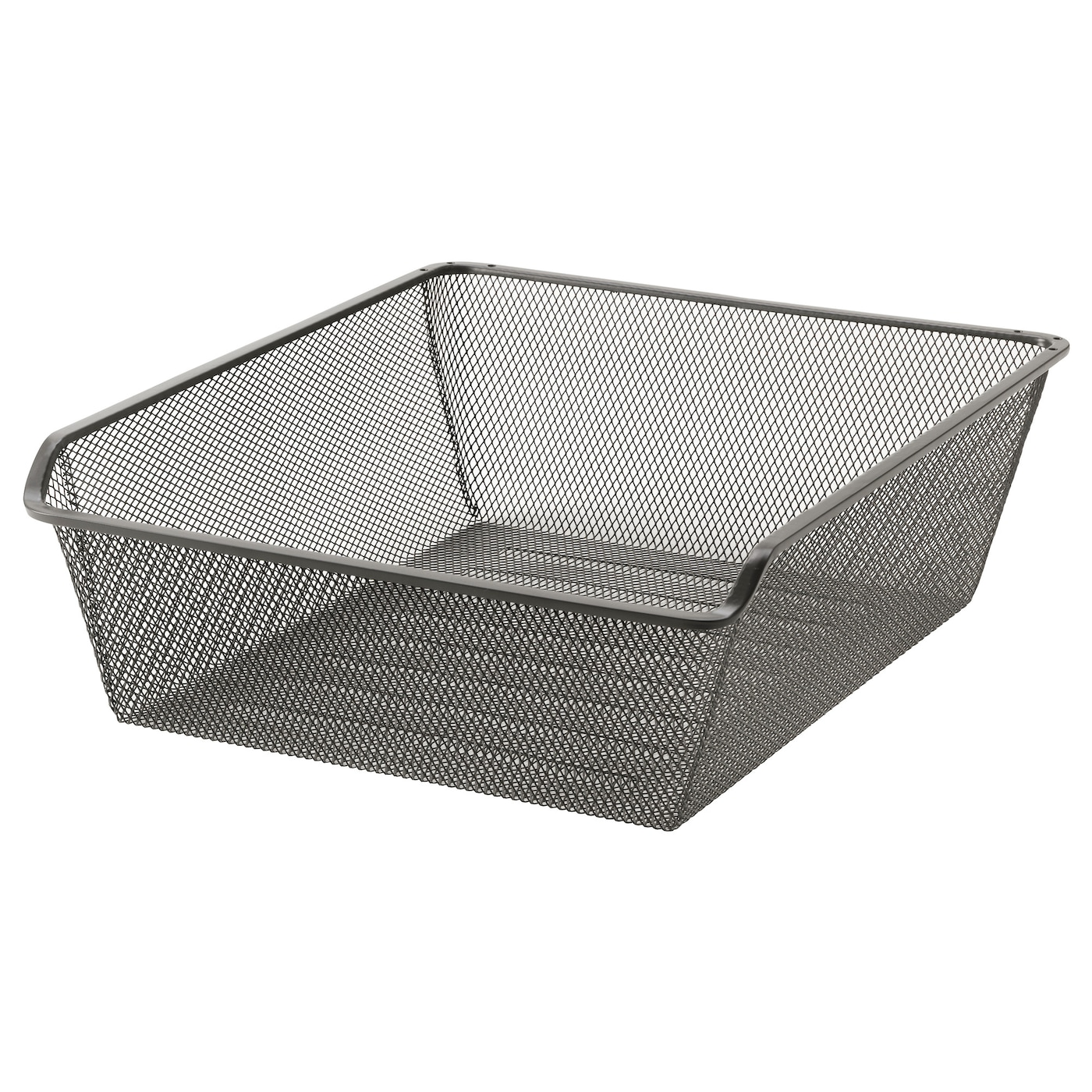 Komplement mesh basket with pull out rail dark grey 50x58 for Ikea complementi