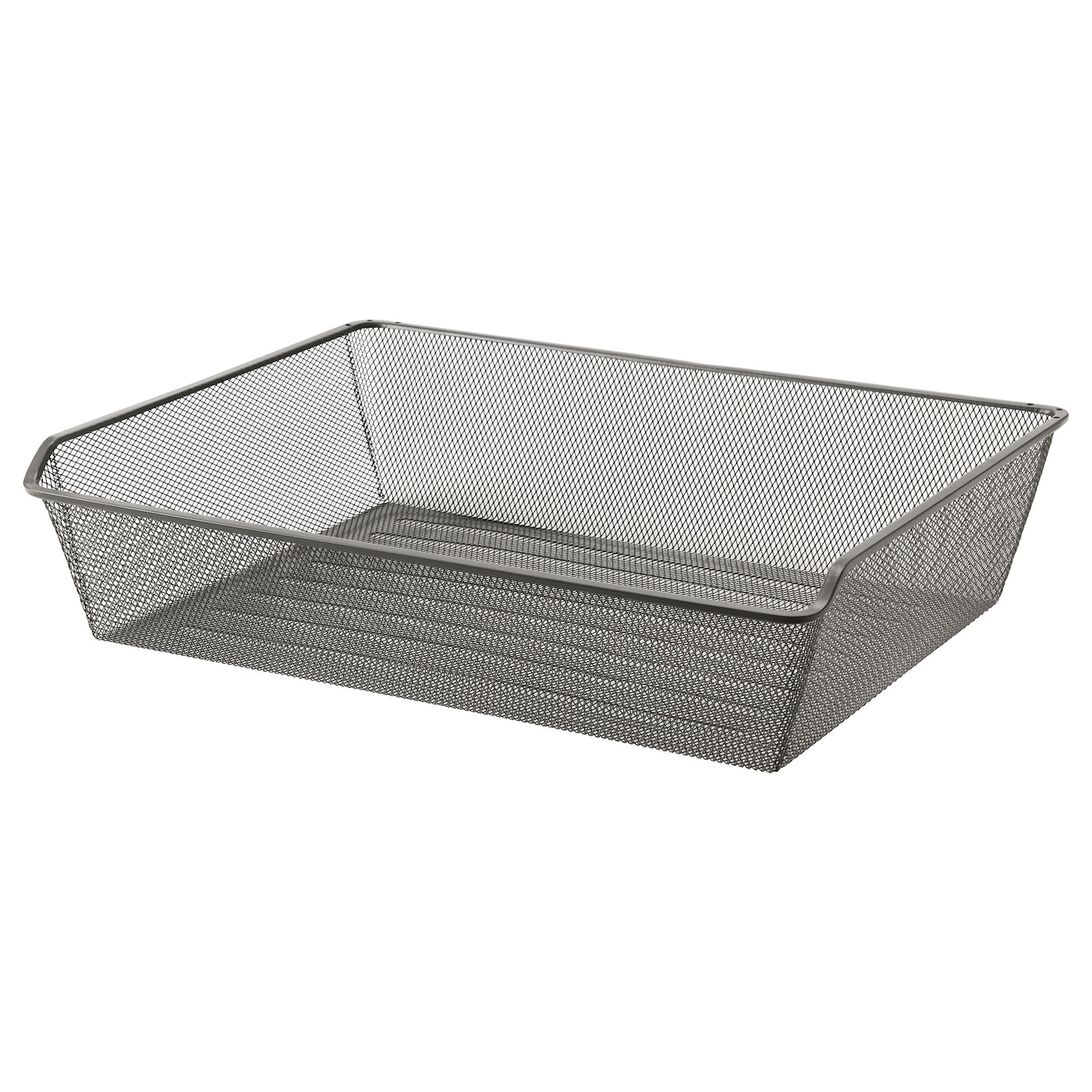 Komplement mesh basket with pull out rail dark grey 75x58 for Ikea complementi