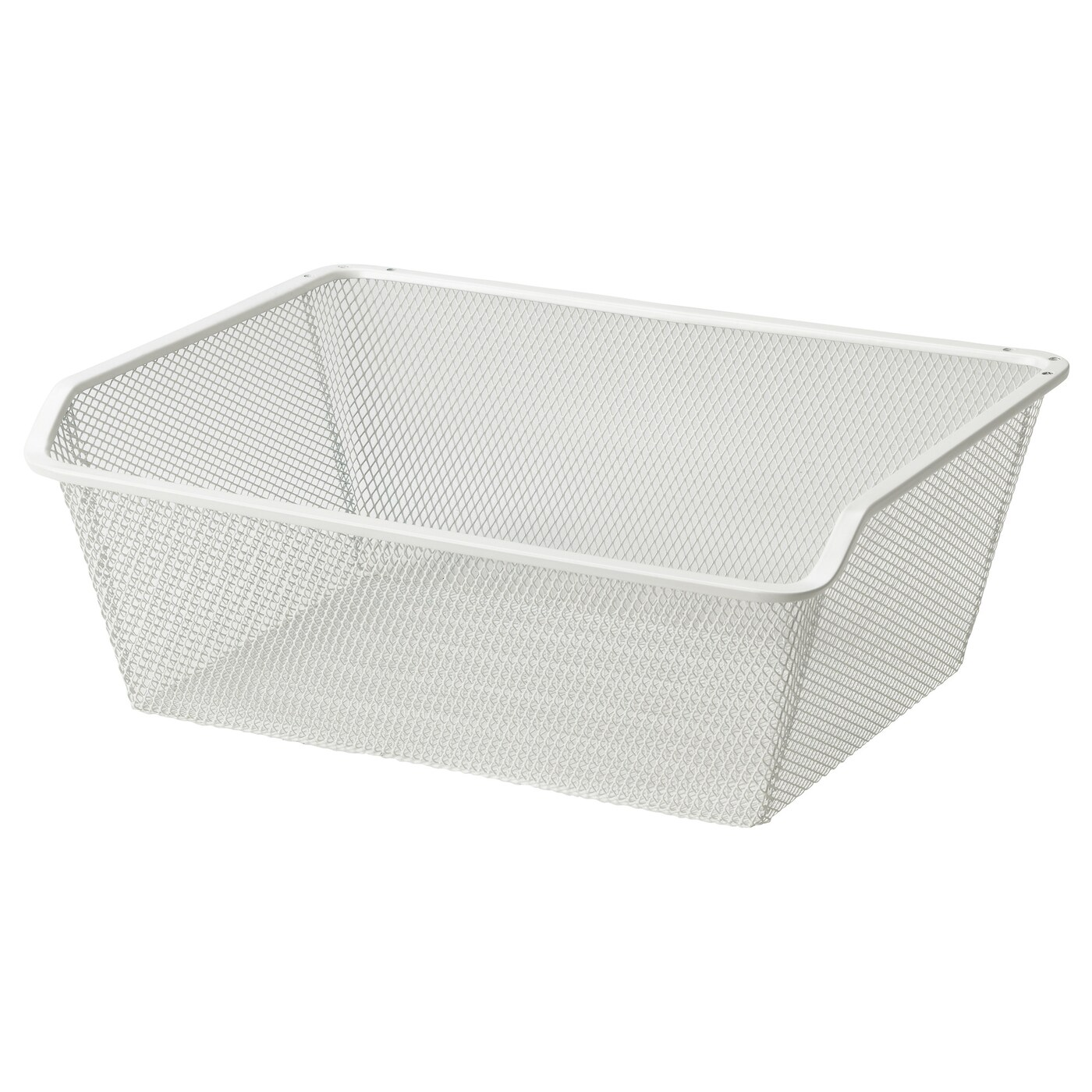 komplement mesh basket with pull out rail white 50x35 cm. Black Bedroom Furniture Sets. Home Design Ideas