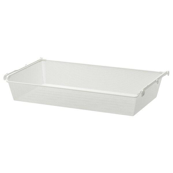 KOMPLEMENT mesh basket with pull-out rail white 96.5 cm 100 cm 53.3 cm 16 cm 58 cm 15 kg