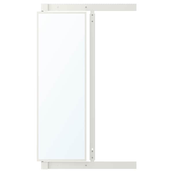 KOMPLEMENT pull-out mirror with hooks white 25 cm 3.6 cm 75 cm