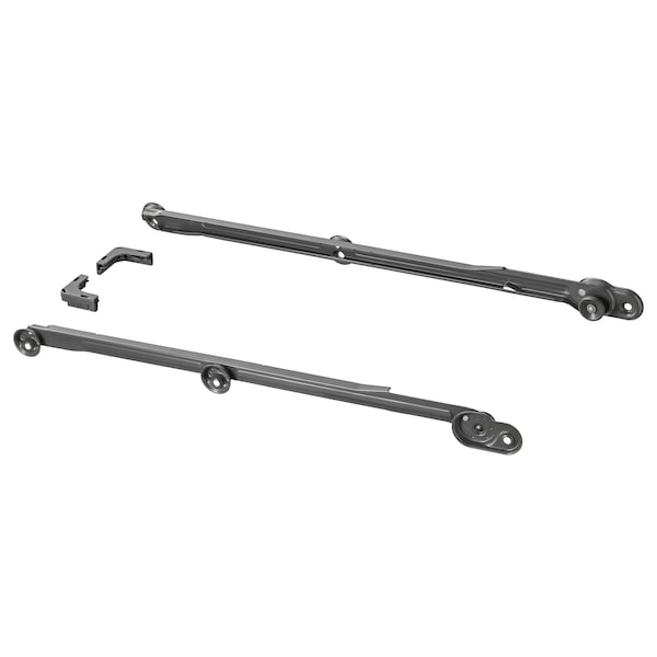KOMPLEMENT Pull-out rail for baskets, dark grey, 58 cm