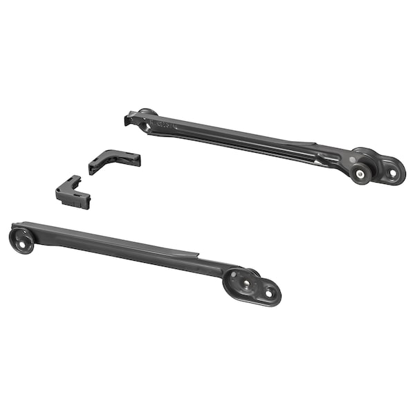KOMPLEMENT Pull-out rail for baskets, dark grey, 35 cm