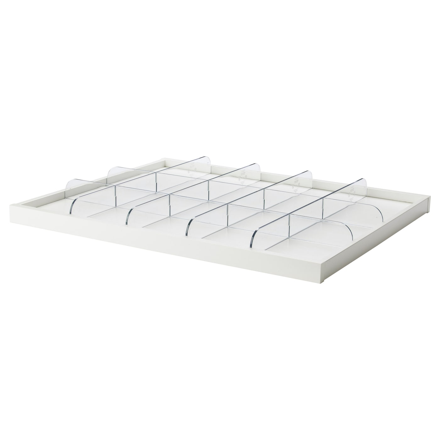 komplement pull out tray with divider white transparent 75x58 cm ikea. Black Bedroom Furniture Sets. Home Design Ideas