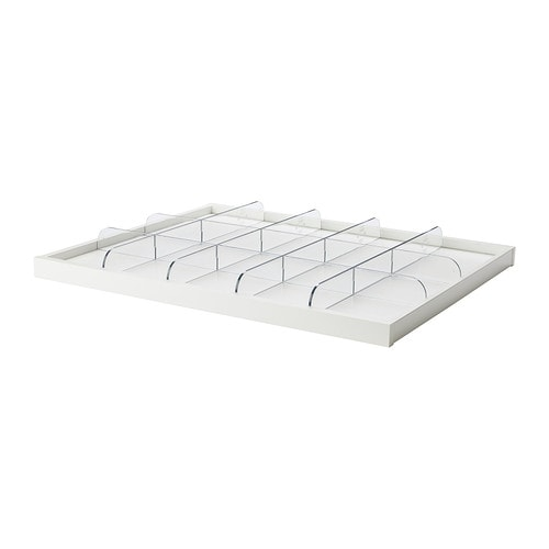 KOMPLEMENT Pull-out tray with divider IKEA 10 year guarantee.   Read about the terms in the guarantee brochure.