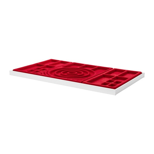 IKEA KOMPLEMENT pull-out tray with jewellery insert