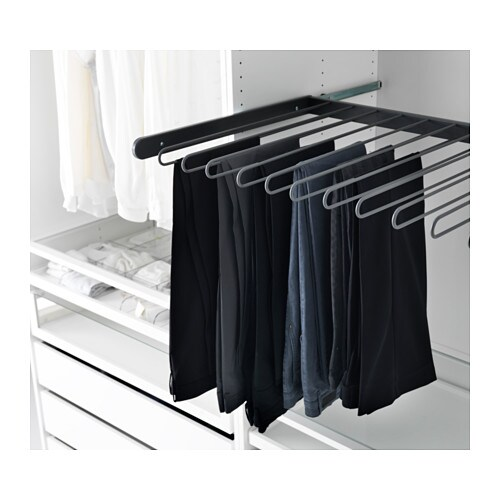 Komplement pull out trouser hanger dark grey 100x58 cm ikea - Accessoire dressing ikea ...