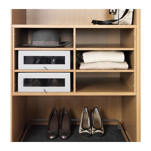 IKEA KOMPLEMENT sectioned shelves 10 year guarantee. Read about the terms in the guarantee brochure.