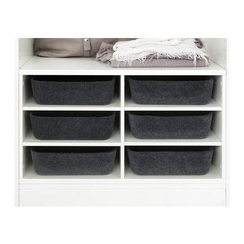 komplement sectioned shelves white 75x58 cm ikea. Black Bedroom Furniture Sets. Home Design Ideas