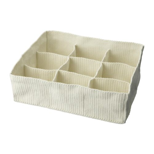 KOMPLEMENT Storage with compartments IKEA Handwoven compartments for underwear and socks.