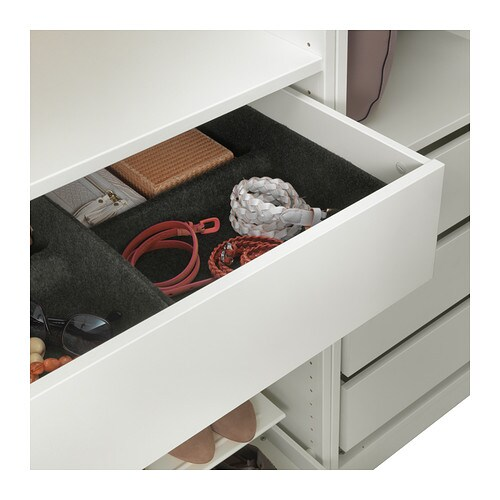 IKEA KOMPLEMENT tray The tray helps you organise clothes and accessories in your wardrobe.