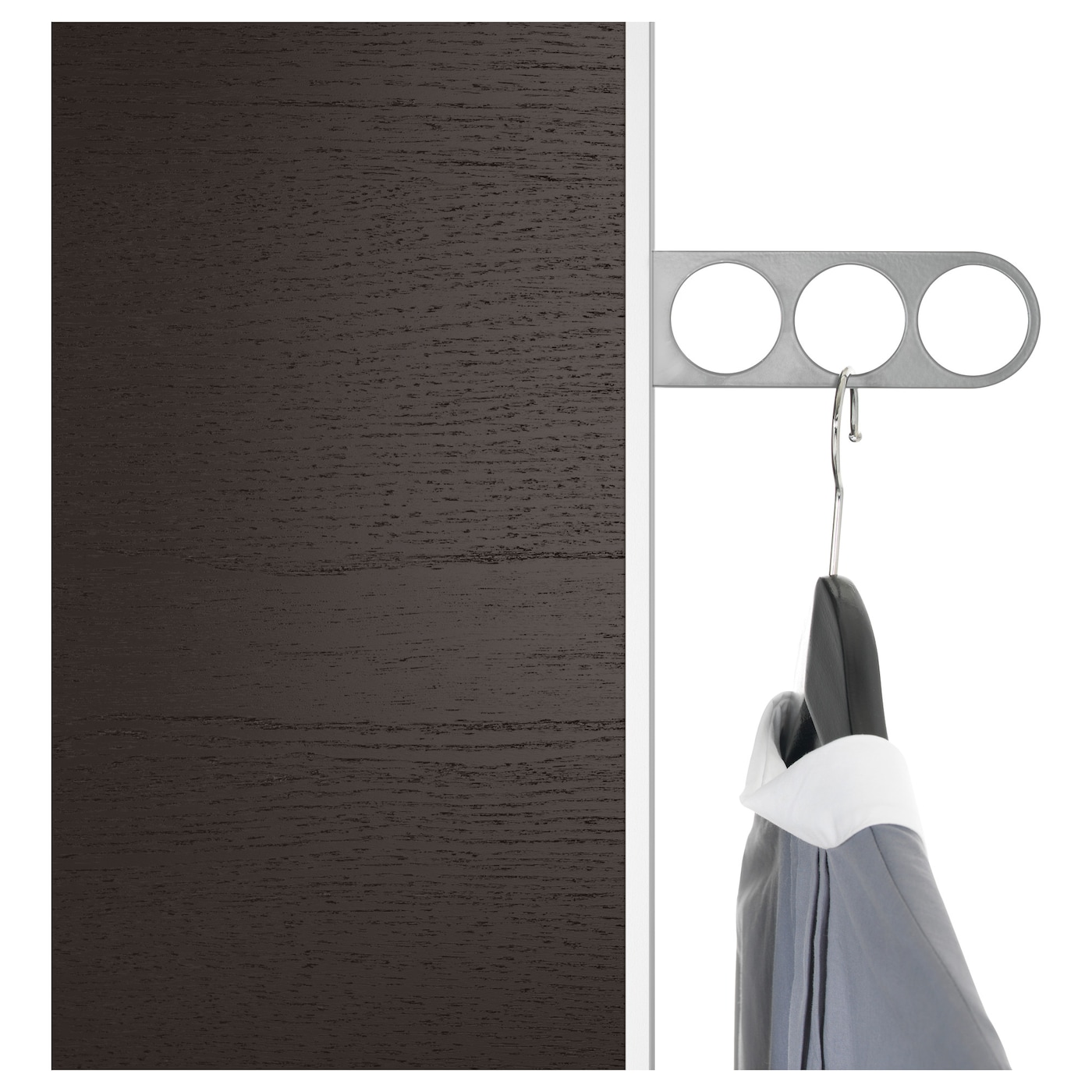 IKEA KOMPLEMENT valet hanger 10 year guarantee. Read about the terms in the guarantee brochure.