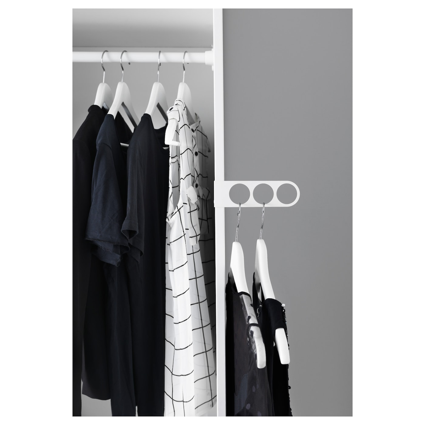 komplement valet hanger white 17 x 5 cm ikea. Black Bedroom Furniture Sets. Home Design Ideas