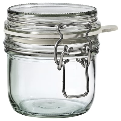 KONCENTRAT Jar with lid, clear glass, 0.3 l