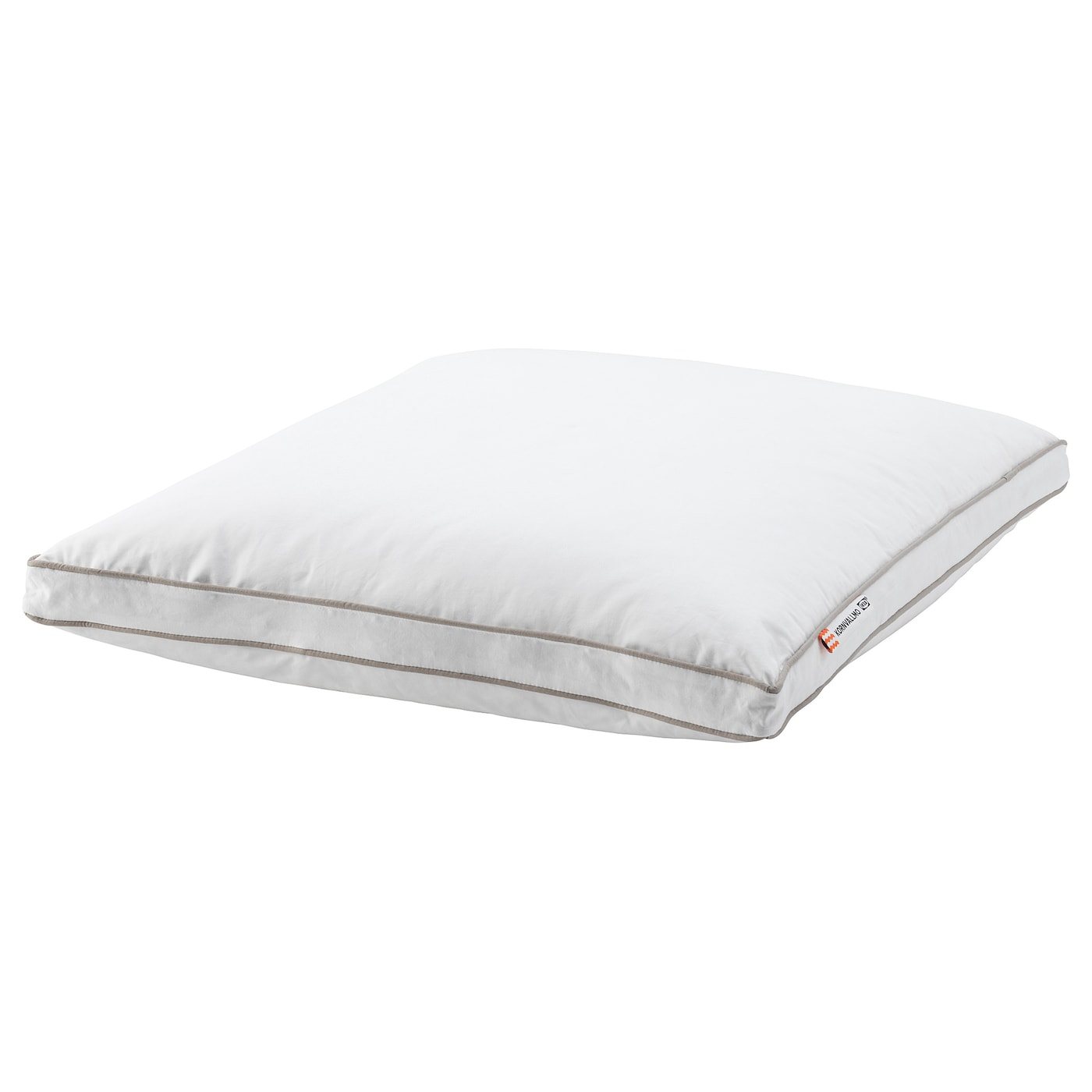 IKEA KORNVALLMO pillow, softer A soft pillow in cotton sateen, filled with duck down and feathers.