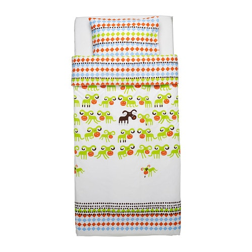 IKEA KOSSAN quilt cover and pillowcase Cotton, soft and nice against your child's skin.