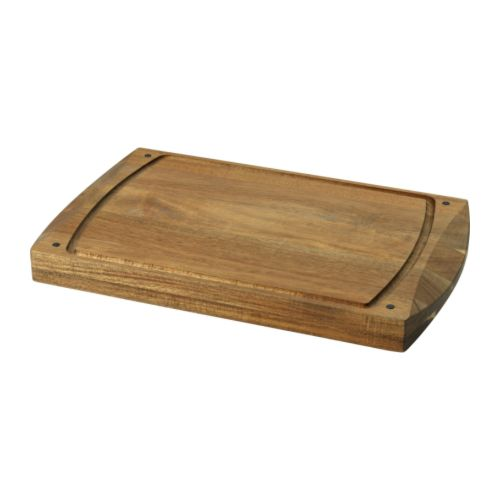 KRAFTIG Chopping board IKEA Made of solid wood, which is a durable natural material that is also gentle on your knives.