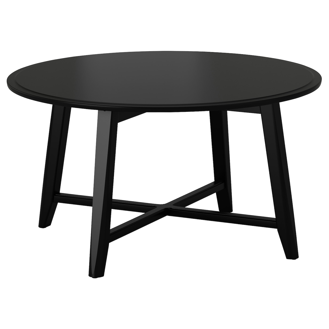Kragsta coffee table black 90 cm ikea for Black wood coffee table and end tables