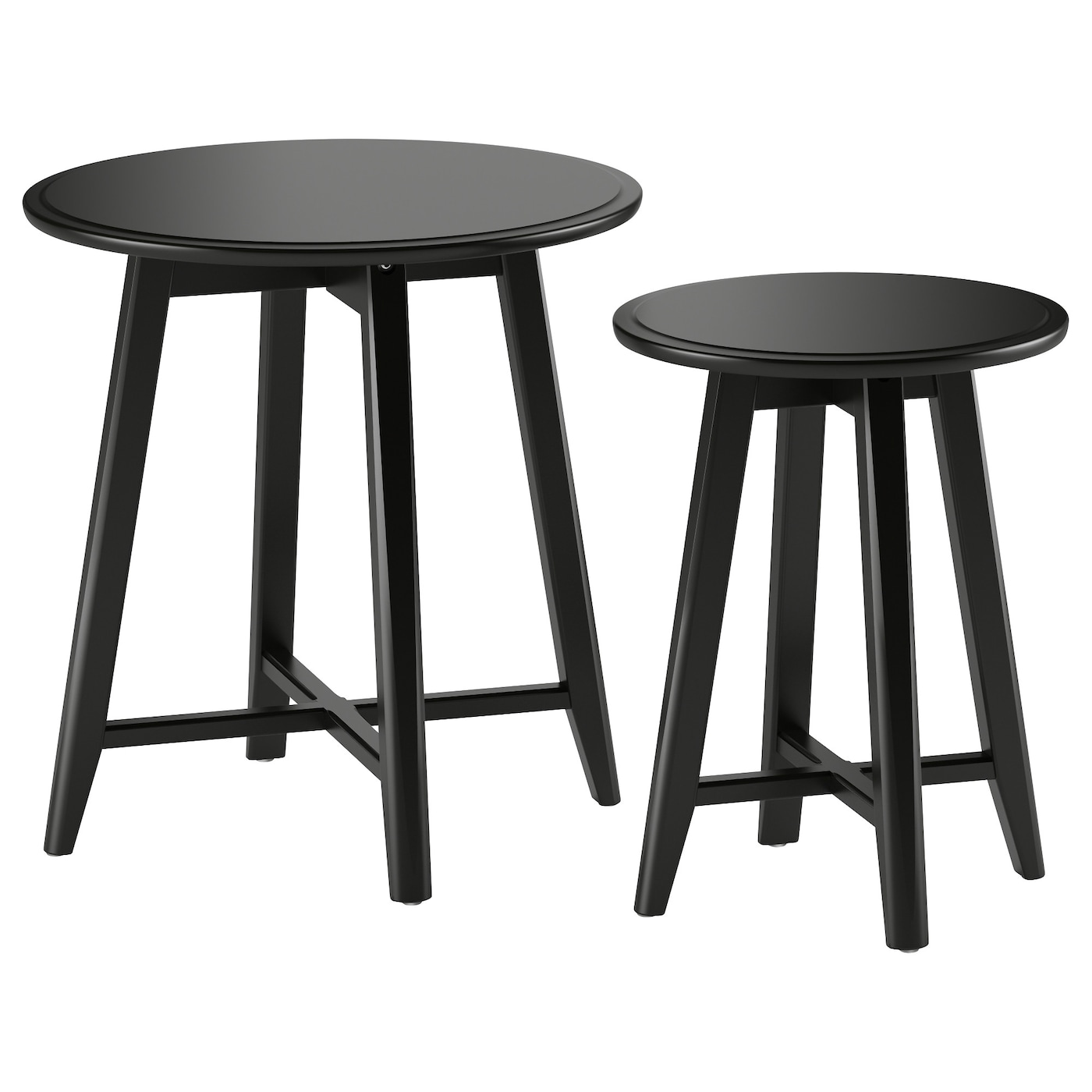 IKEA KRAGSTA nest of tables, set of 2 The included plastic feet protect the floor from scratches.