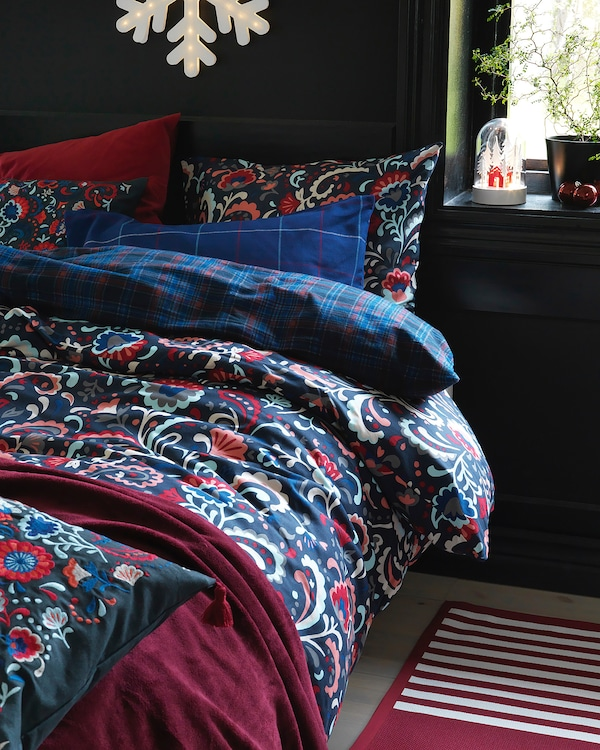 IKEA KRATTEN Quilt cover and pillowcase