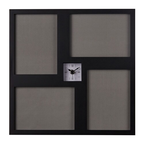 IKEA KRAVATT wall clock Fix a picture in each picture holder; create your own collage.