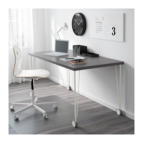 IKEA KRILLE leg with castor Lockable castors make the table easy to move and lock in place.