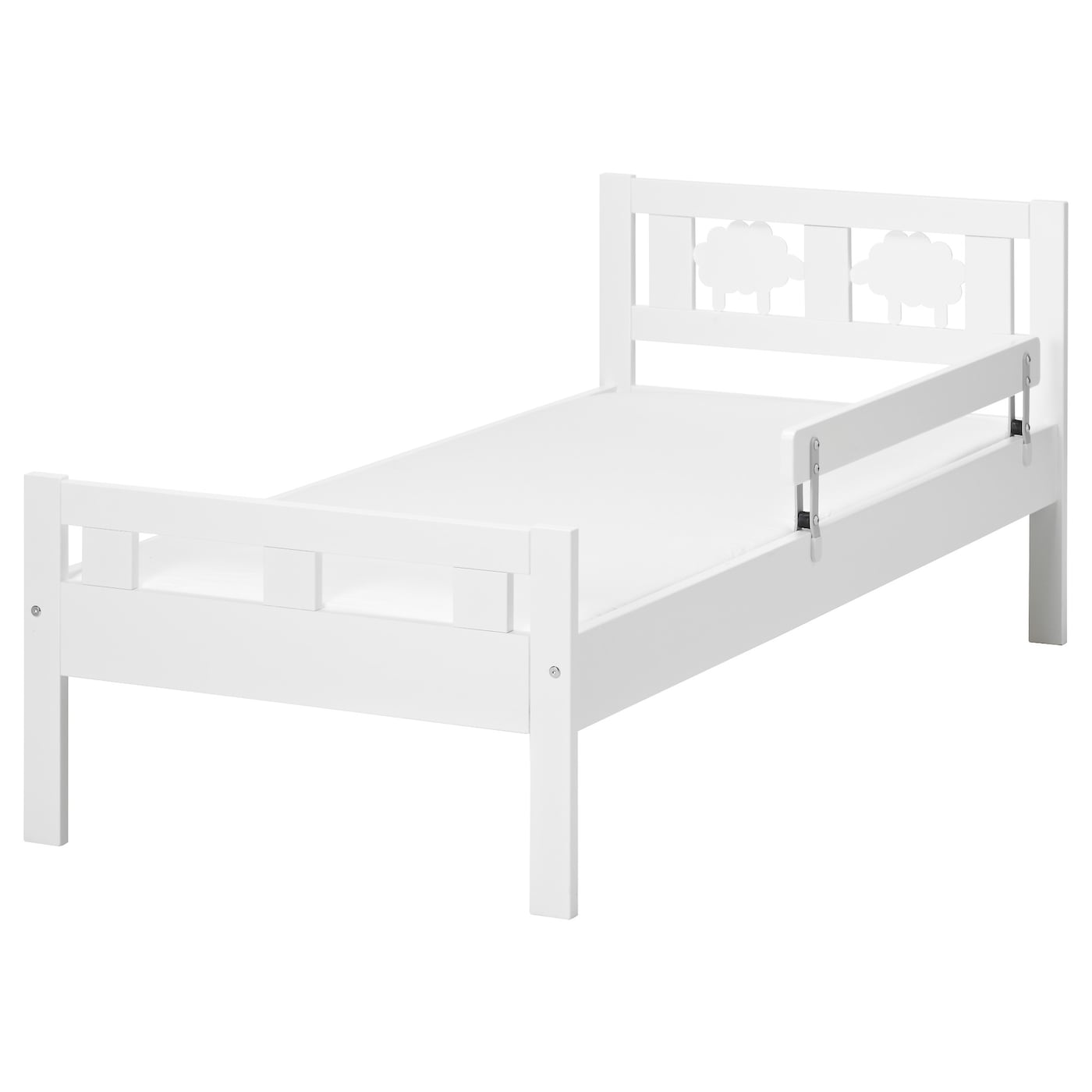 Kritter bed frame with slatted bed base white 70x160 cm ikea for Ikea mattress frame