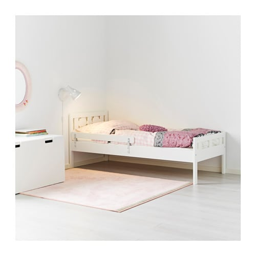 kritter bed frame with slatted bed base white 70x160 cm ikea. Black Bedroom Furniture Sets. Home Design Ideas