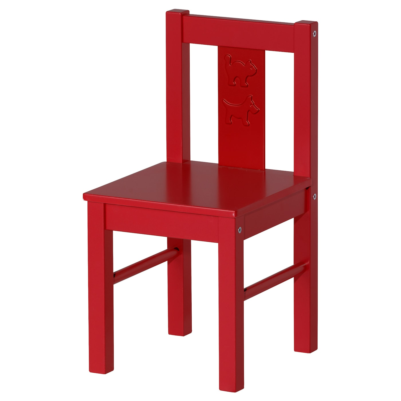 Kritter children 39 s chair red ikea for Small chair for kid