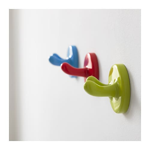 Krokig Wall Hook Multicolour 3 Pack Ikea