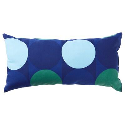 KROKUSLILJA Cushion, blue/green, 30x60 cm