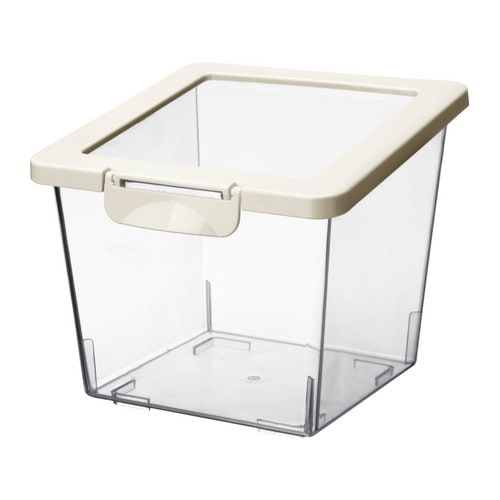 KRUS Jar with lid IKEA Several empty food containers can be stacked inside one another to save space in your cabinets.